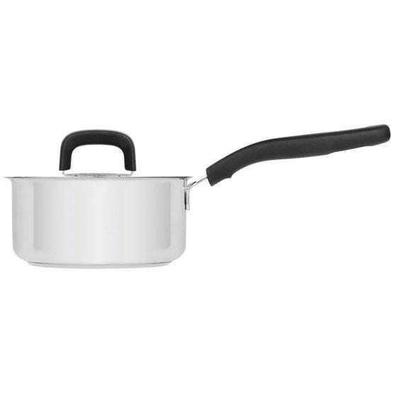 Pentola 1,5 litri con coperchio, acciaio inox - Perfetta per tutti i fornelli