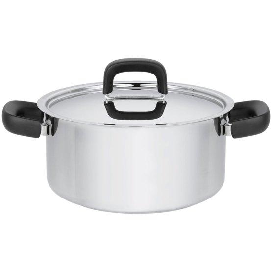 Pentola 3,0 litri con coperchio, acciaio inox - Perfetta per tutti i fornelli