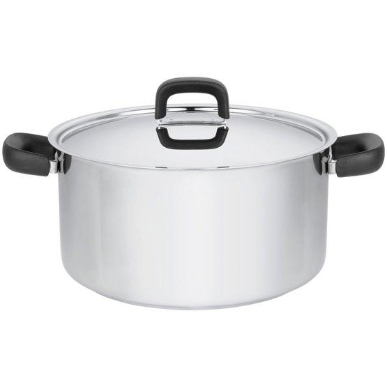 Pentola 5,0 litri con coperchio, acciaio inox - Perfetta per tutti i fornelli