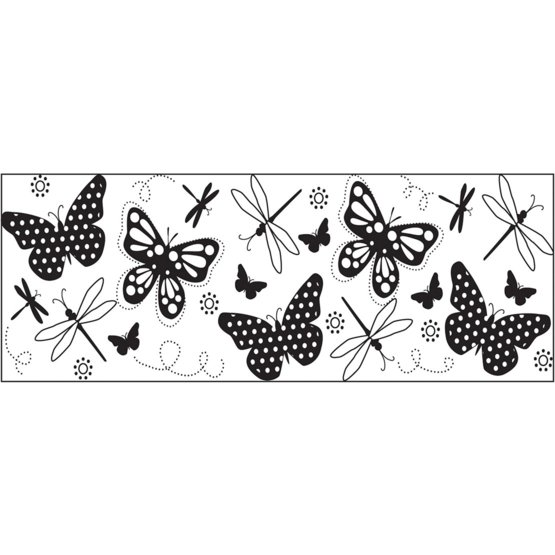 Foglio di stampa a Forma Continua- Farfalle