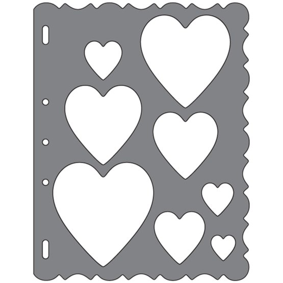 Grandi ShapeTemplates™- Hearts