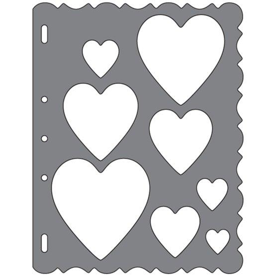 Grandi ShapeTemplates™- Hearts